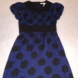 DVF dress, Blue & Black, Size 4
